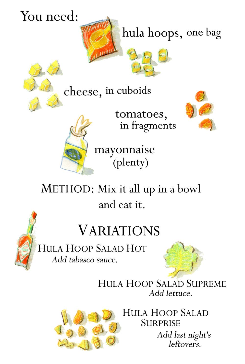 hula hoop salad