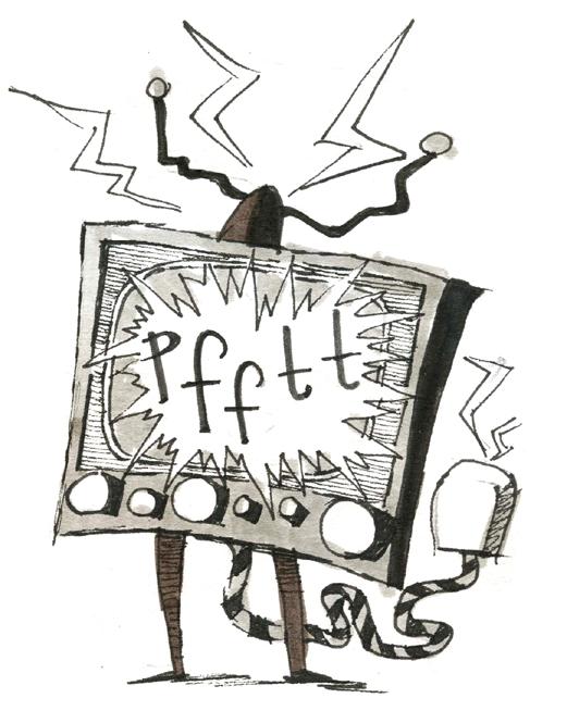 TV on blink