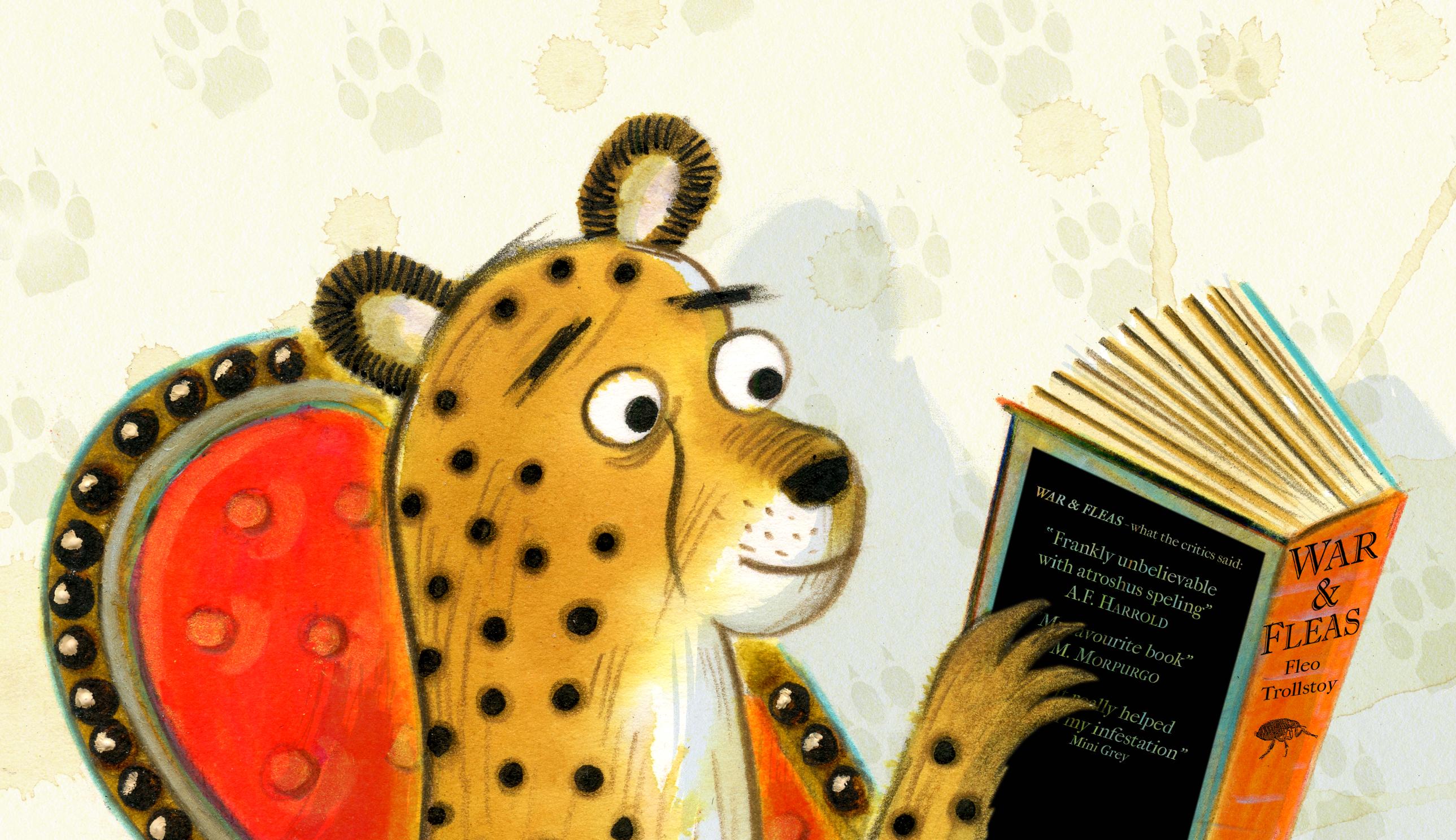 Cheetah reading