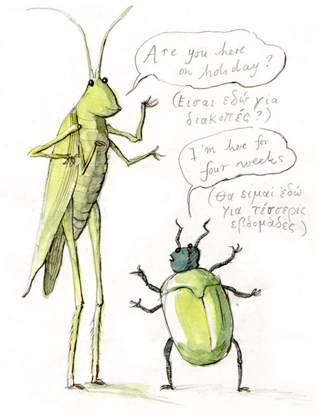 16 Grasshopper and Beetle
