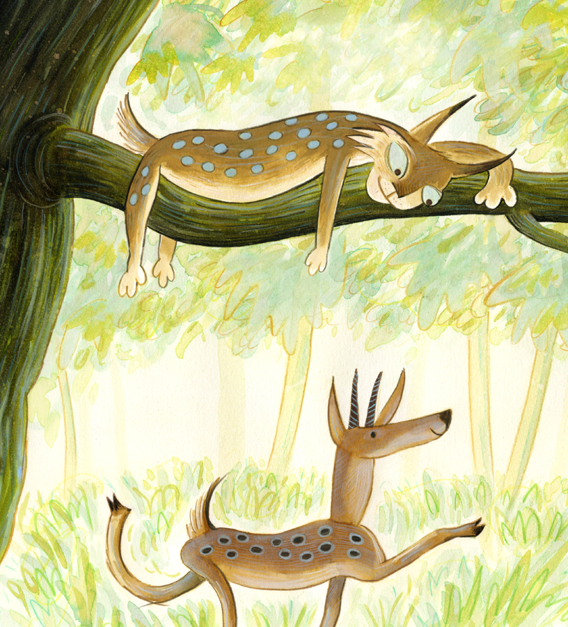 19 Lynx and deer